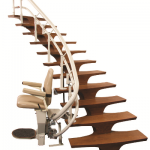 helix curved stair lift