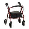 red 22 inch zoom rolling walker