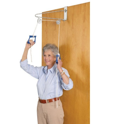 metal door pulley exercise set
