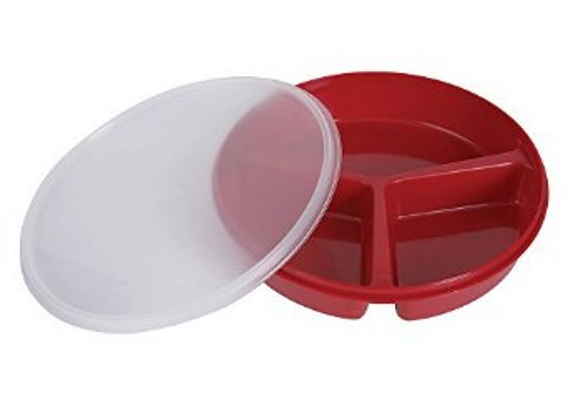 Partitioned Scoop Dish With Lid