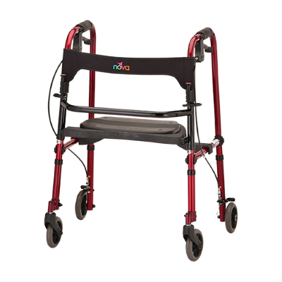 red cruiser de-light wheeled walker