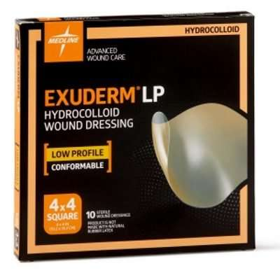 exuderm lp hydrocolloid wound dressing