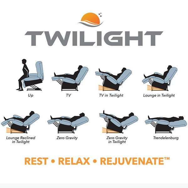 twilight lift chair recliner positions