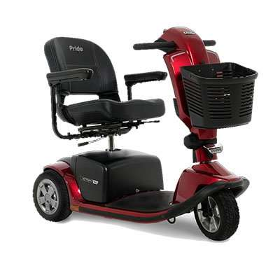 pride victory 10.2 3-wheel mobility scooter matte red